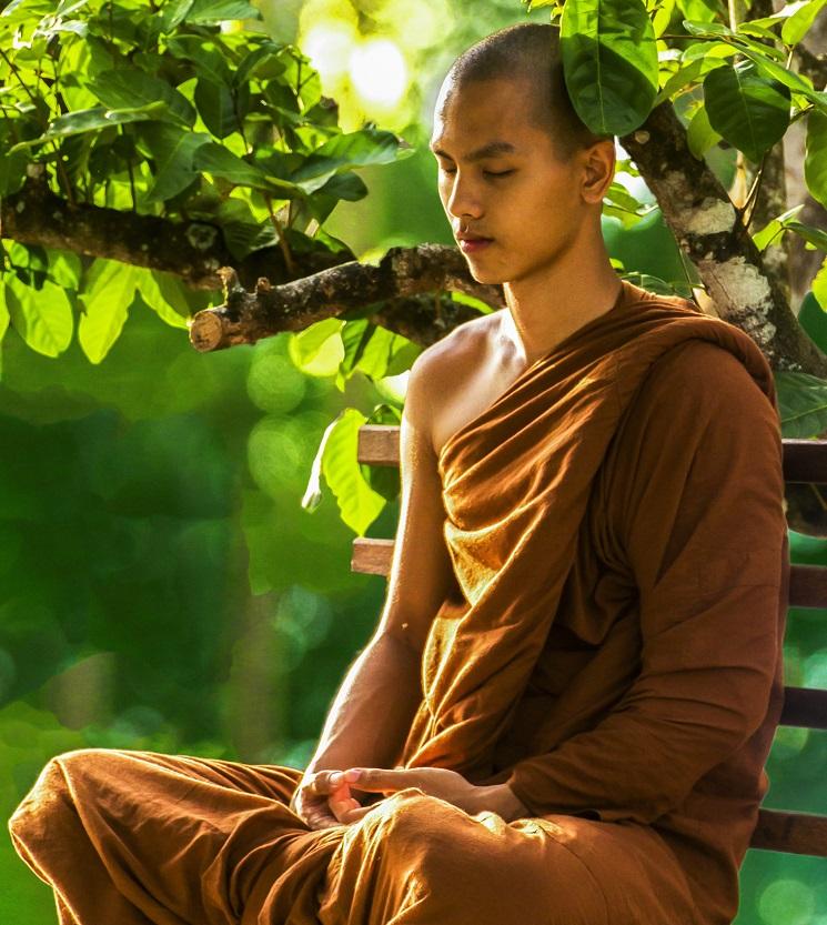 Mönch Meditation
